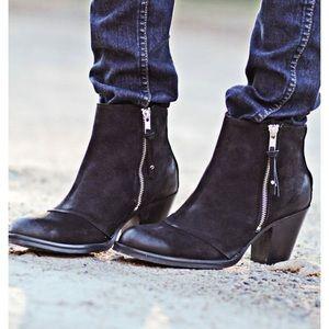 Topshop black ambush ankle boots